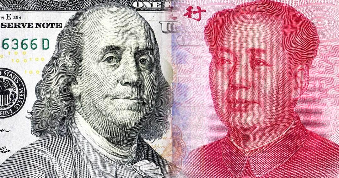 ドル、人民元紙幣