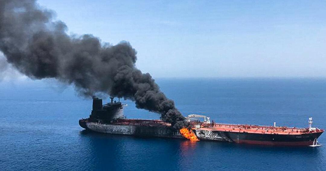 ホルムズ海峡近くで攻撃を受けたノルウェーの海運会社が運航するタンカー