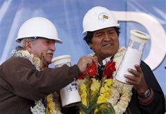 モラレス大統領(右)
