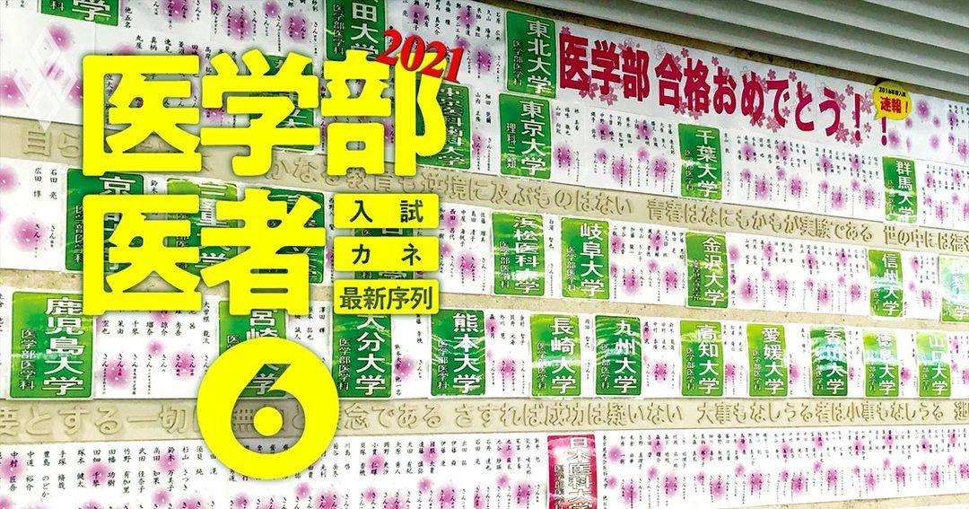 医学部&医者2021入試・カネ・最新序列#6