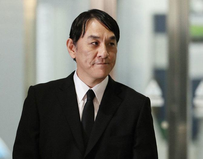 ピエール瀧被告(4月4日、東京都江東区の警視庁東京湾岸署 )