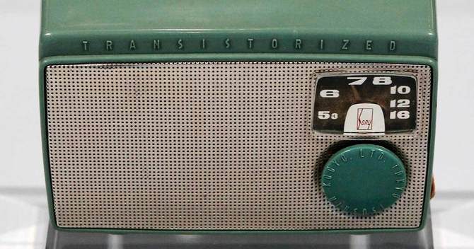 1955年製のソニー初のトランジスターラジオ