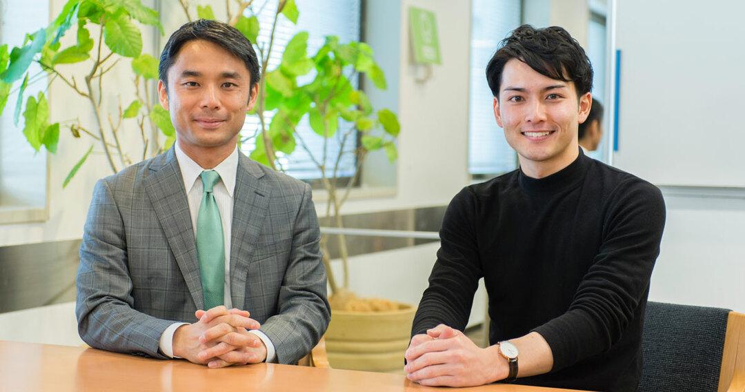 岩瀬大輔さんと小林廣輝さん