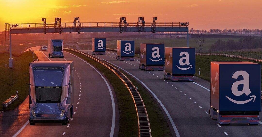 アマゾンの配送トラック