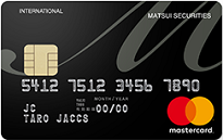 MATSUI SECURITIES CARDの券面