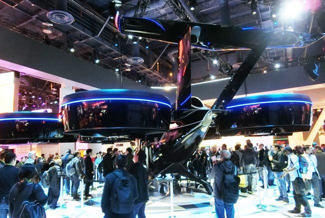 CES2019でのベルヘリコプターの出展。大型VTOL機