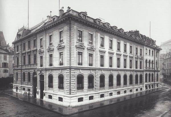 1909年頃ジュネーブのピクテ銀行社屋