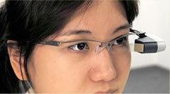 ブラザー工業 メガネ型網膜走査ディスプレイ