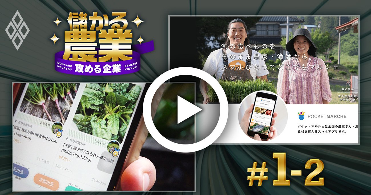【動画】コロナ需要減を救う!農水産物直販アプリで売り上げUPの秘訣