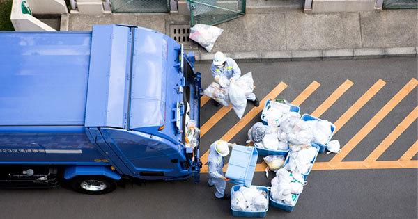 ごみ収集の清掃員