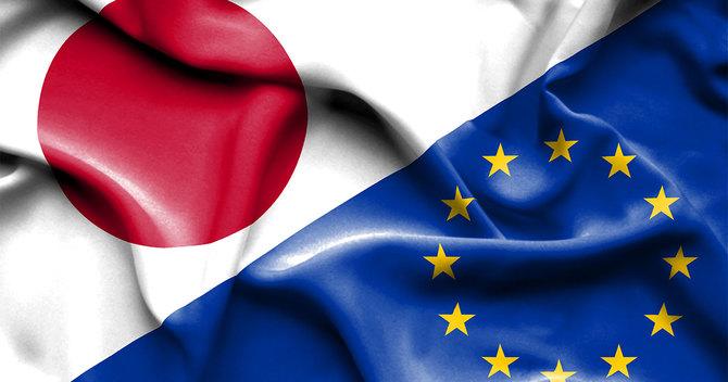 日本と欧州連合の国旗
