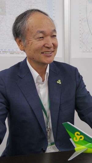 春秋航空日本・樫原利幸社長