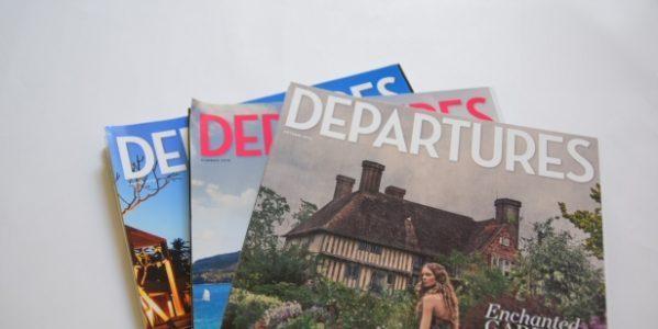 「アメリカン・エキスプレス・プラチナ・カード」の保有者向け情報誌「DEPARTURES」