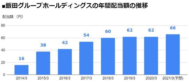 飯田グループホールディングス(3291)の年間配当額の推移