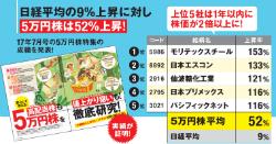 5万円株は52%上昇!