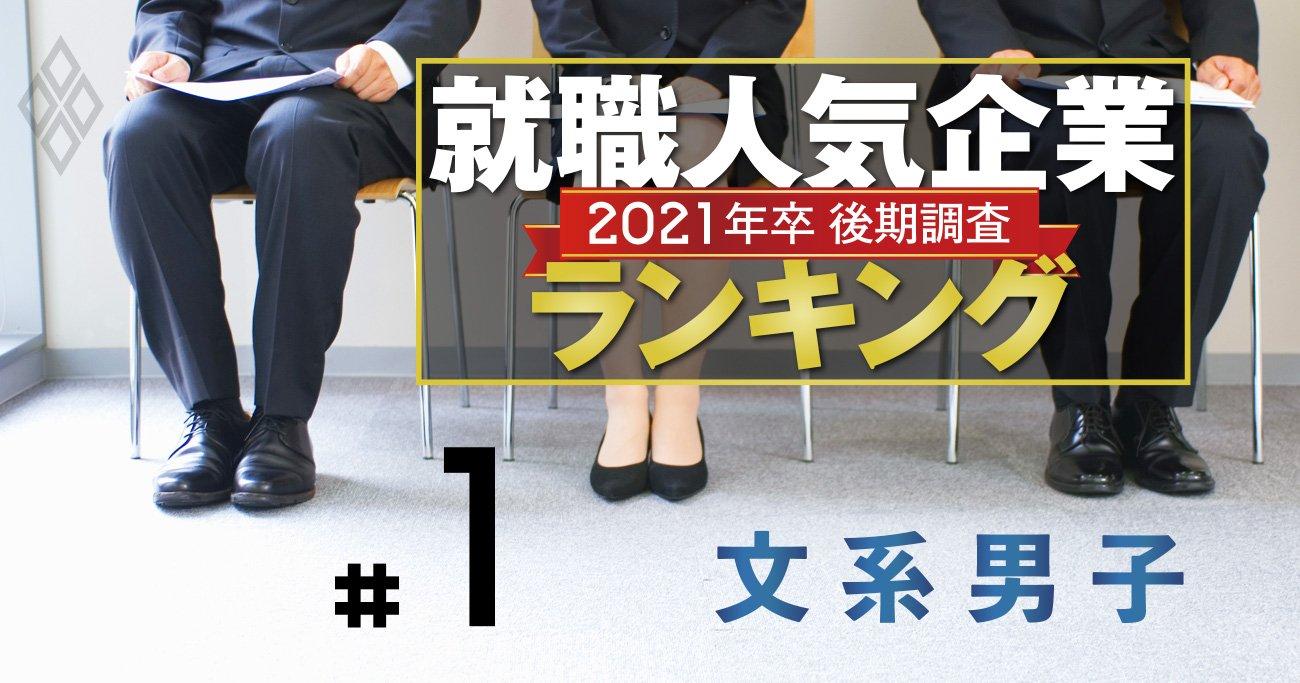 就職人気企業ランキング2020【文系男子・全200社】伊藤忠が連続1位、商社強し