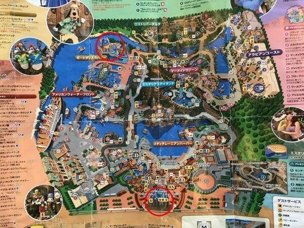 東京ディズニーシーの園内マップ