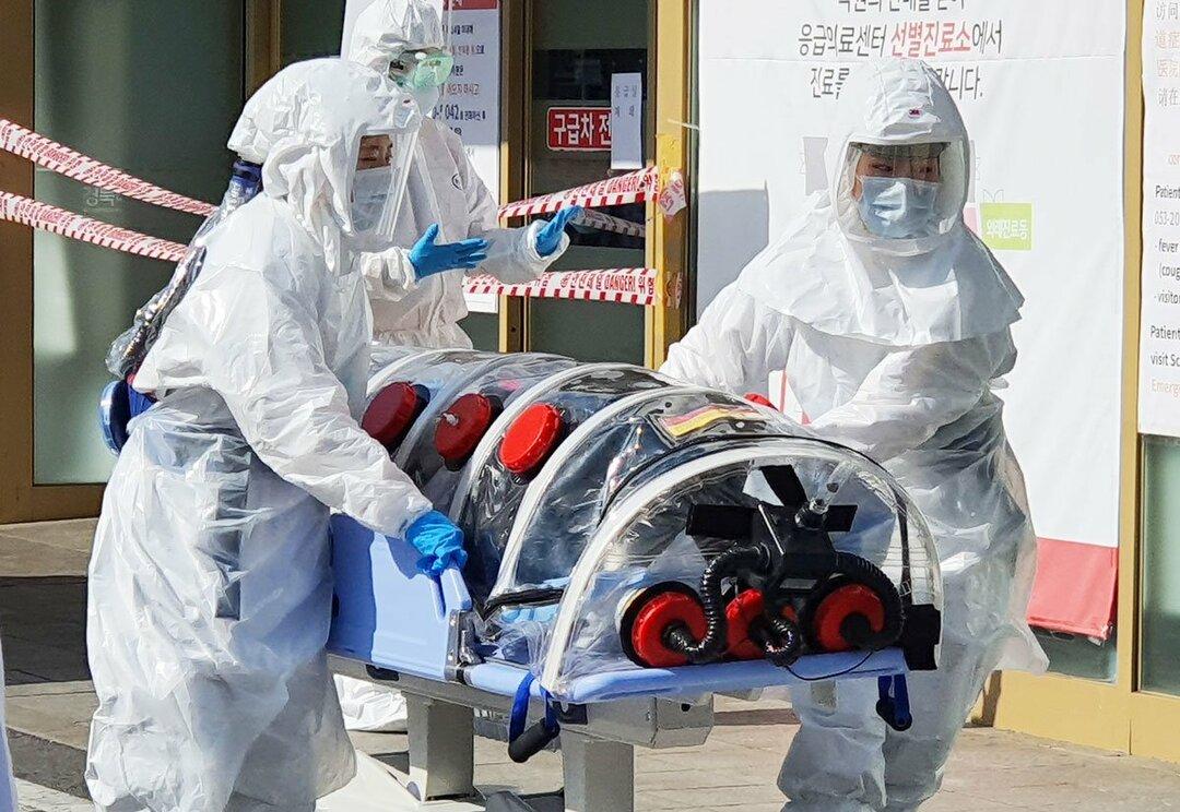 韓国でも新型肺炎の感染が広がっている(撮影日:2月19日、撮影地:韓国・大邸) Photo:EPA=JIJI