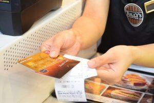 「タリーズカード」にクレジットカードでチャージ
