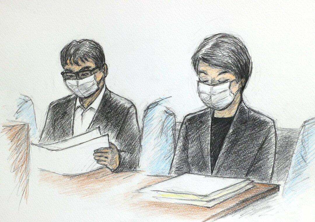 初公判のイラスト