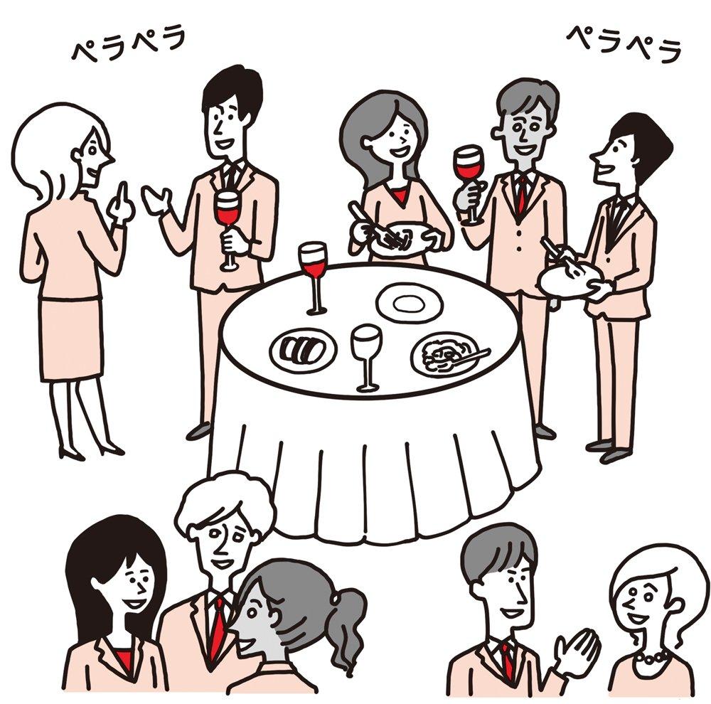 外国人との立食パーティなどで<br />孤立しないために<br />おすすめの方法とは?