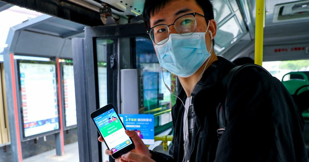中国・武漢でバスの運行が開始