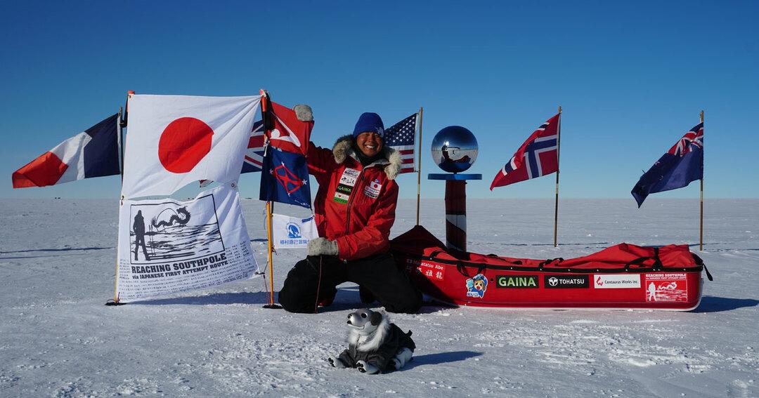 2019年1月に日本人未踏破のルートで単独南極点到達を果たした阿部雅龍さん