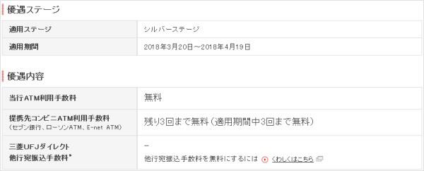 三菱UFJ銀行のステージ状況(4月18日時点)