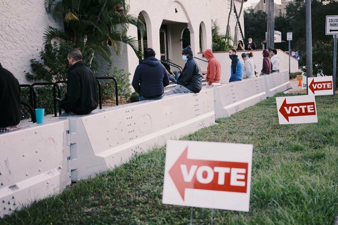写真:フロリダ州セントピーターズバーグの投票所