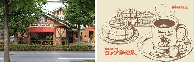 「KOMECA」は、国内の「コメダ珈琲店」と「おかげ庵」全店で利用可能。2019年11月末時点の店舗数は、国内の「コメダ珈琲店」が853店、「おかげ庵」は10店。