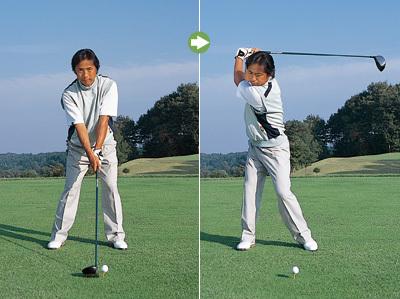 中高年ゴルファーは下半身を動かして捻転を深くしよう