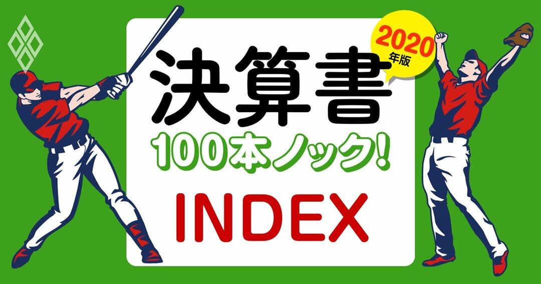 決算書100本ノック!INDEX