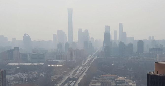 中国・北京の大気の様子