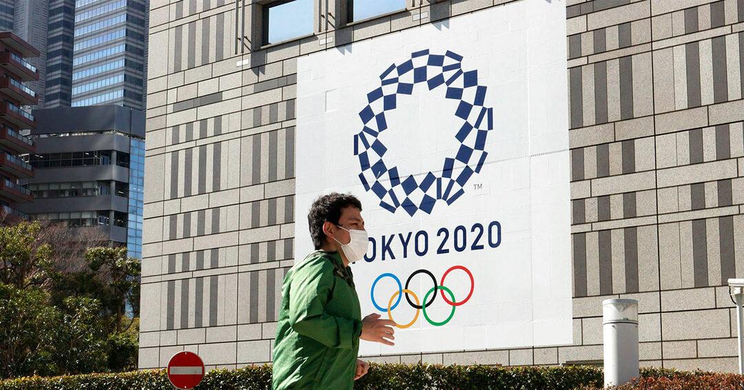写真:東京2020オリンピックを宣伝する看板