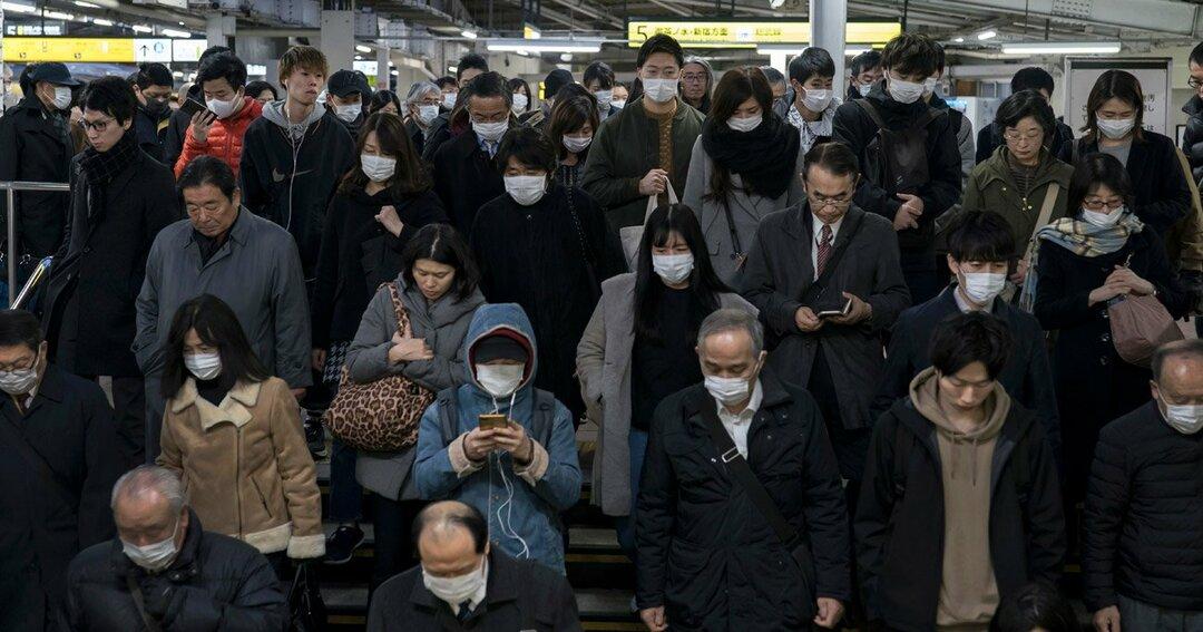 東京通勤風景