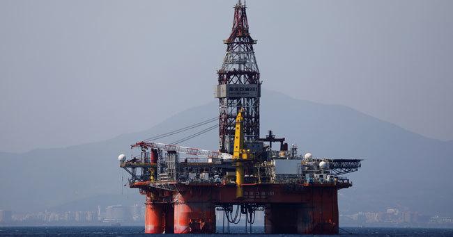 海南省沖の中国海洋石油の石油掘削装置