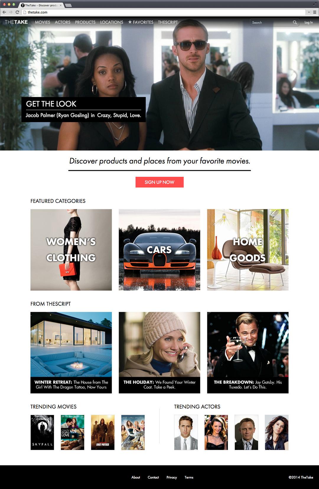 映画で見た衣装を実際に買える<br />米国のショッピングサイト「TheTake.com」