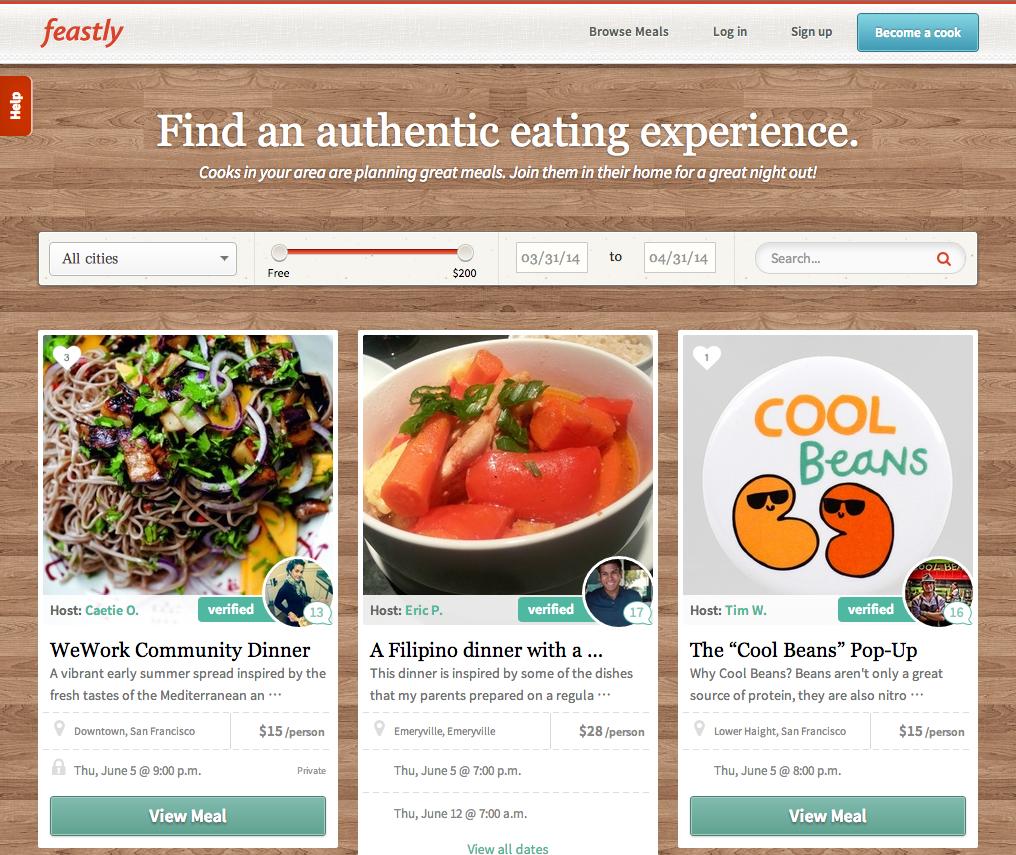 食事を作りたい人と食べたい人をマッチングする<br />米国で話題の新サイト「Feastly」の魅力