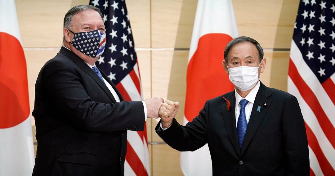 菅首相による初めての「対面外交」となったポンペオ米国務長官との会談