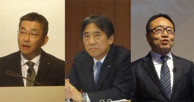 KDDIの髙橋社長、ドコモの吉澤社長、ソフトバンクの宮内社長