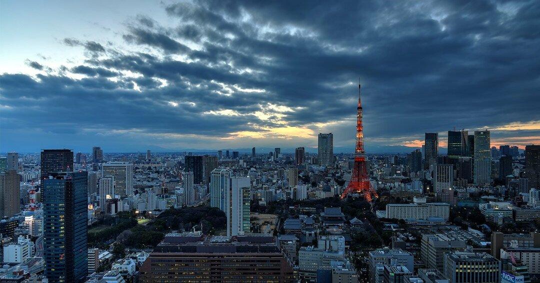 曇天の東京