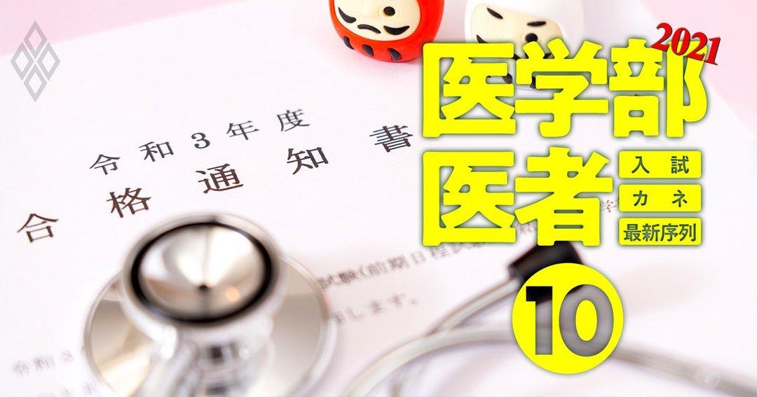 医学部&医者2021入試・カネ・最新序列#10