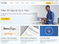 ドキュサイン公式サイト・トップページ画像
