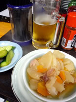 コンソメスープと漬けきゅうり