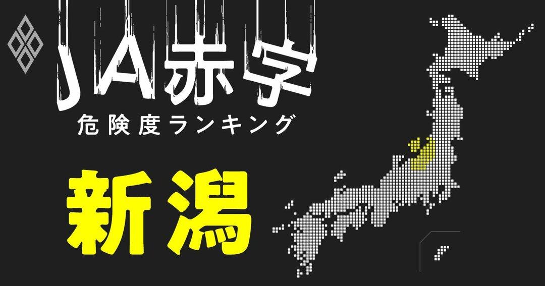 JA赤字危険度ランキング#新潟
