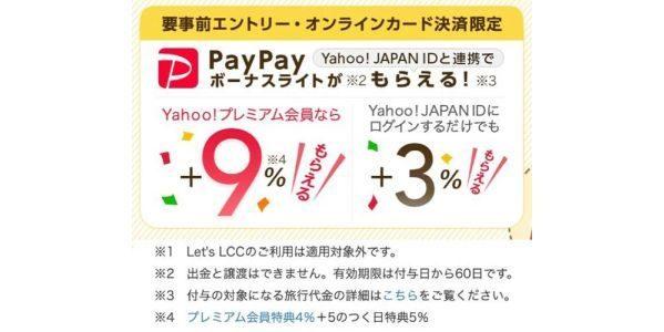 「Yahoo!トラベル」のPayPayボーナスライトがもらえる企画