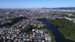 福岡県春日市の航空写真