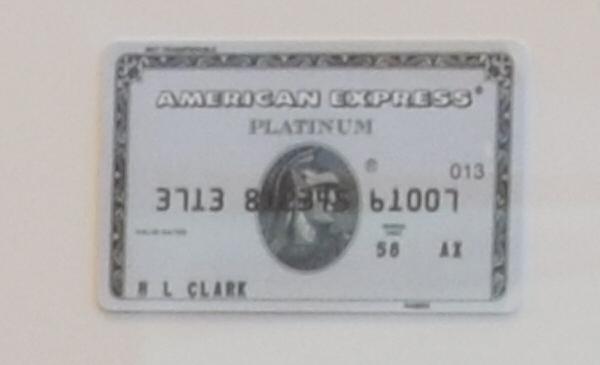 1984年に発行されたアメリカン・エキスプレス・プラチナ・カード