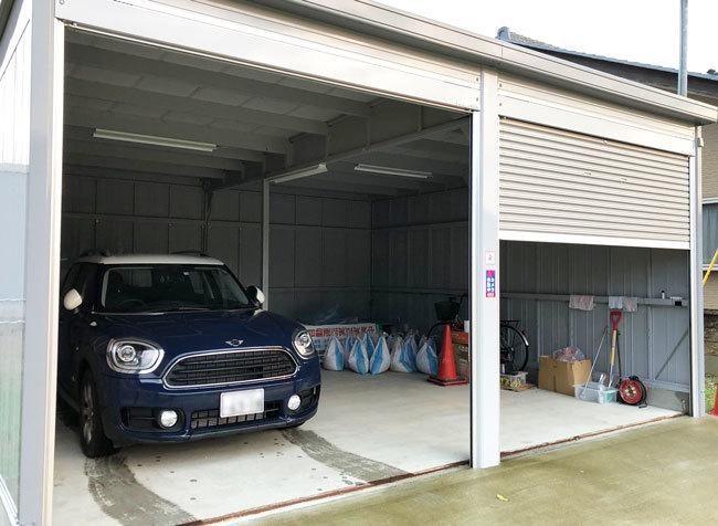 永平寺町の借家の近くでガレージも借りて、長期の外出時のセキュリティも万全