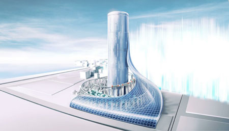 大阪メトロが建設計画を発表した「夢洲タワービル」のイメージ図